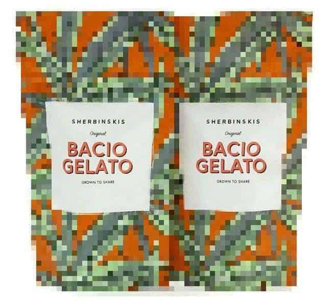 Sherbinskis Bacio Gelato 3 5g / 7g bags Mylar Bags