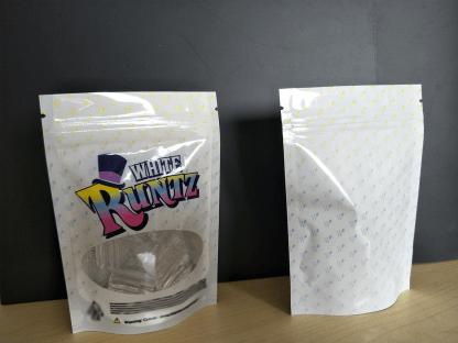 White Runtz Brand Mylar Bag 3 5g 8th (White Style)